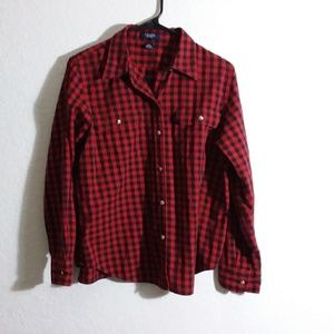 Large 100% cotton flannel long sleeve button shirt